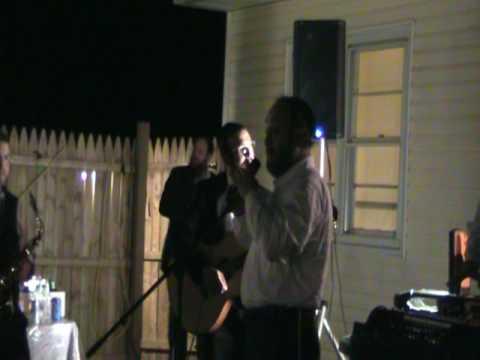 Yehuda Green Singing at a Local Lakewood Kumzitz