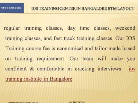 Ios Training Institute In Bangalore