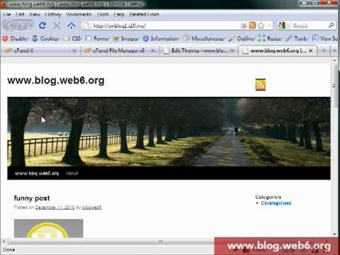 How to add rss icon to twenty ten theme wordpress