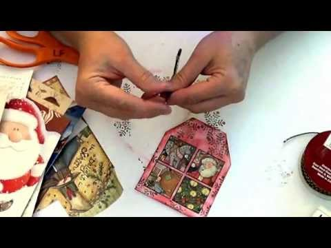 How To Recycle Old Christmas Cards Into Gift Tags Youtube