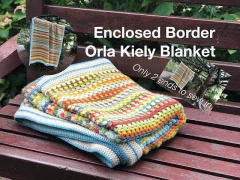 Ophelia Talks CROCHET An ENCLOSED DOUBLE Border and NO ENDS TO SEW IN