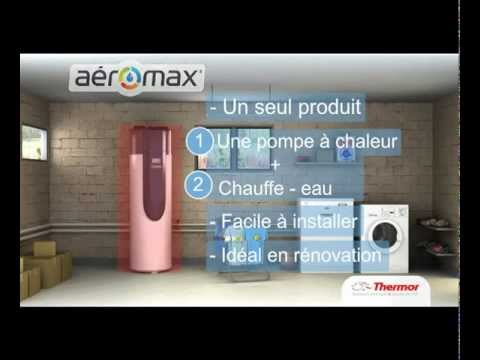 chauffe eau thermodynamique aeromax 3 de thermor youtube. Black Bedroom Furniture Sets. Home Design Ideas