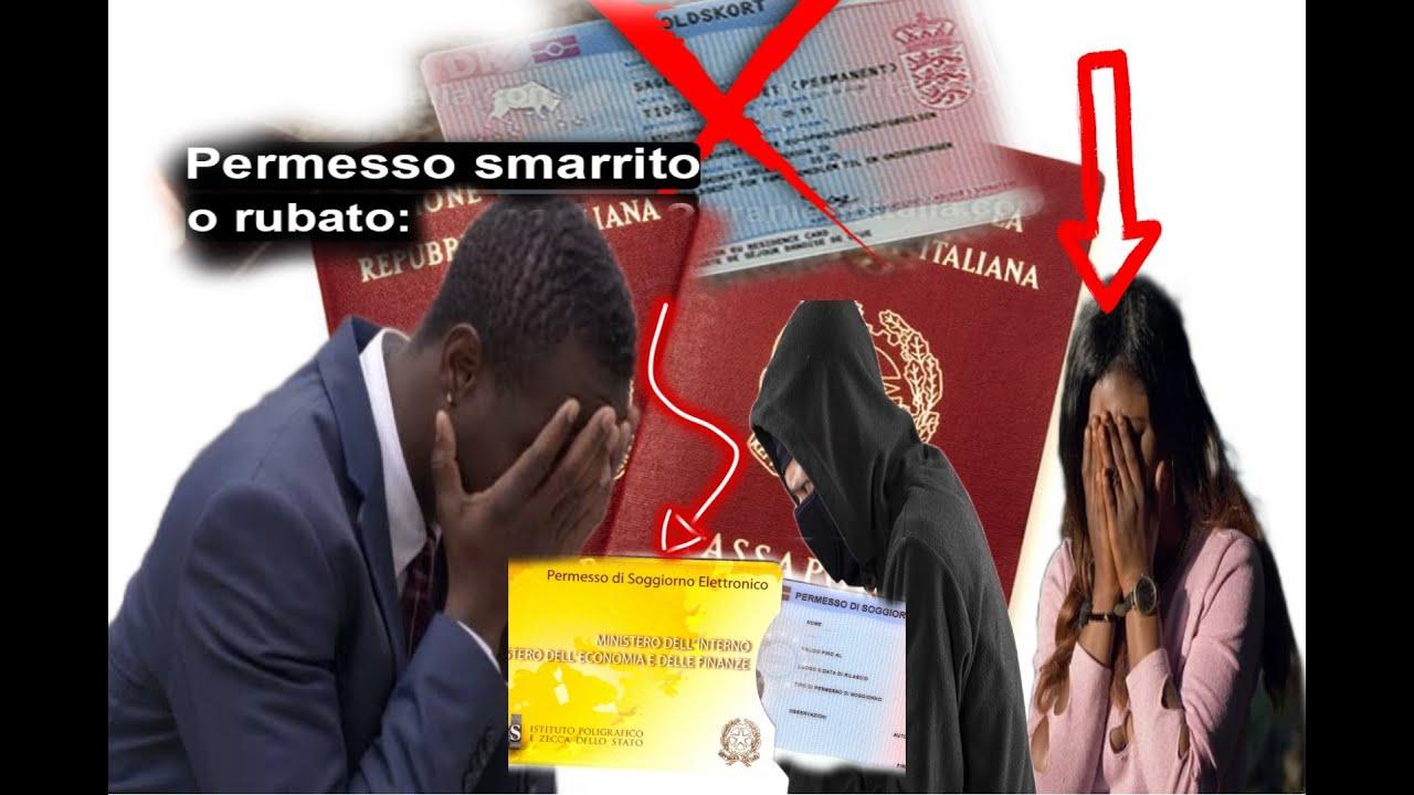 Tornare In Italia Se Ti Rubano O Perdi Il Permesso Di Soggiorno All Estero Guida Completa Youtube