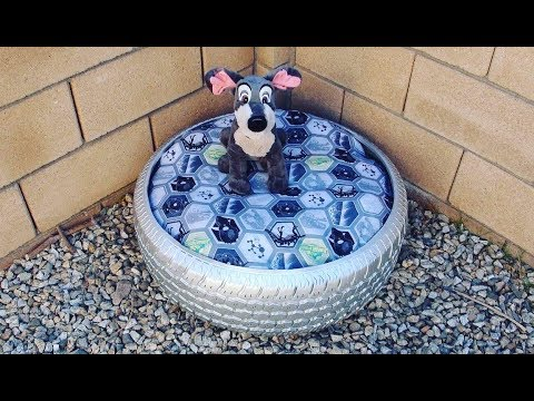 DIY Tire Dog Bed