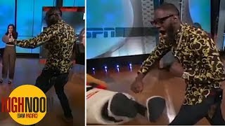 Deontay Wilder punches ESPN mascot, apologizes after injury rumors of broken jaw | High Noon