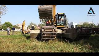 Презентация экскаватора-амфибия. Очистка водоема в г.Бровары(, 2015-12-13T13:02:21.000Z)