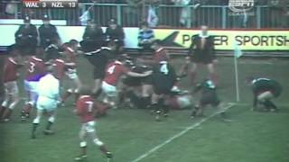 1972 Rugby Union Test Match: Wales vs New Zealand All Blacks (highlights)