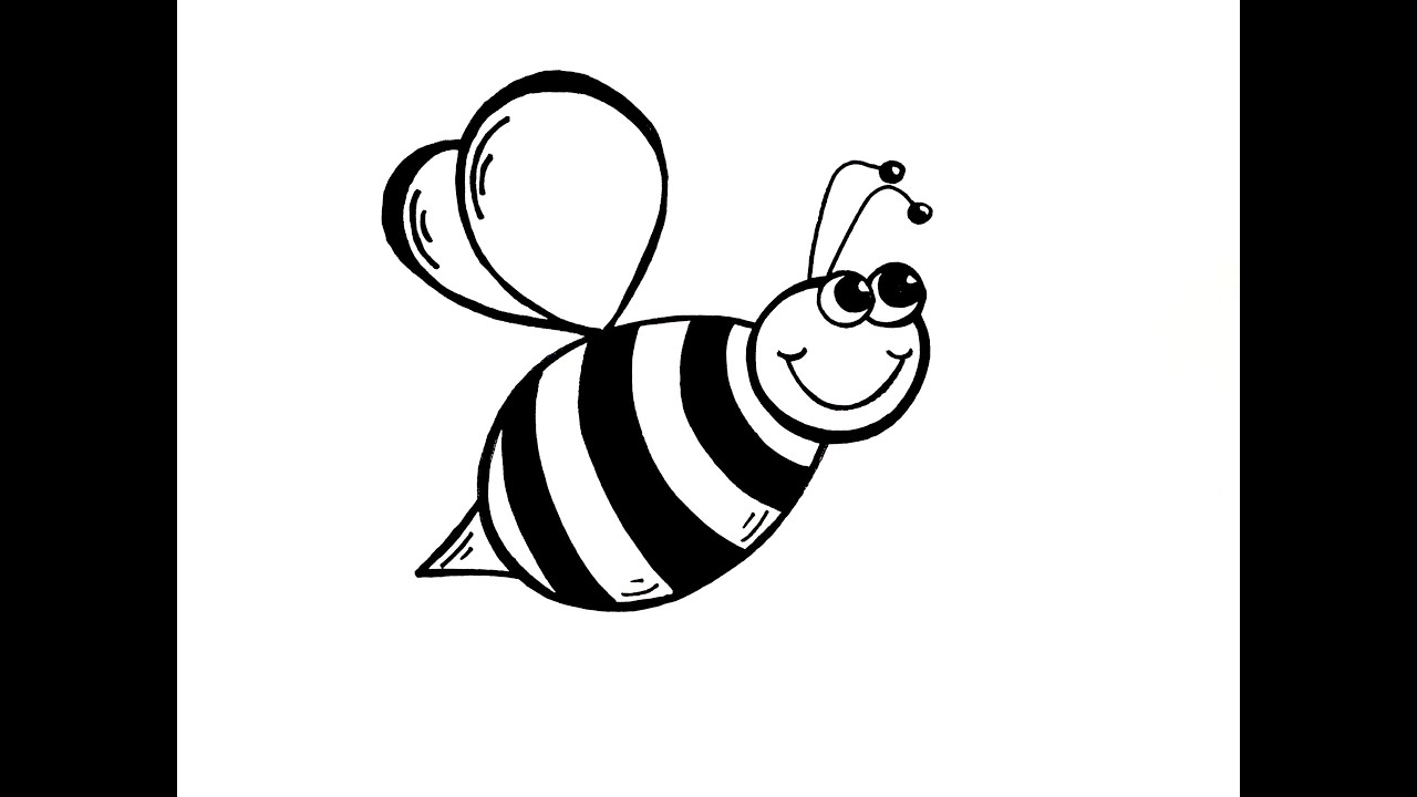 Simple bee drawing - photo#8