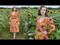 A Floral Autumn Dress : Sewing Vlog