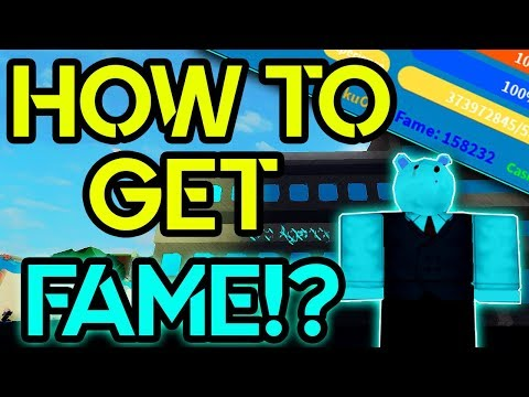 HOW TO GET ALOT OF FAME FAST!? BOKU NO ROBLOX REMASTERED  ROBLOX