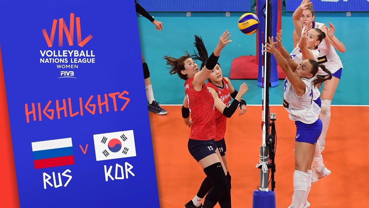 RUSSIA vs. KOREA - Highlights Women | Week 4 | Volleyball Nations League 2019