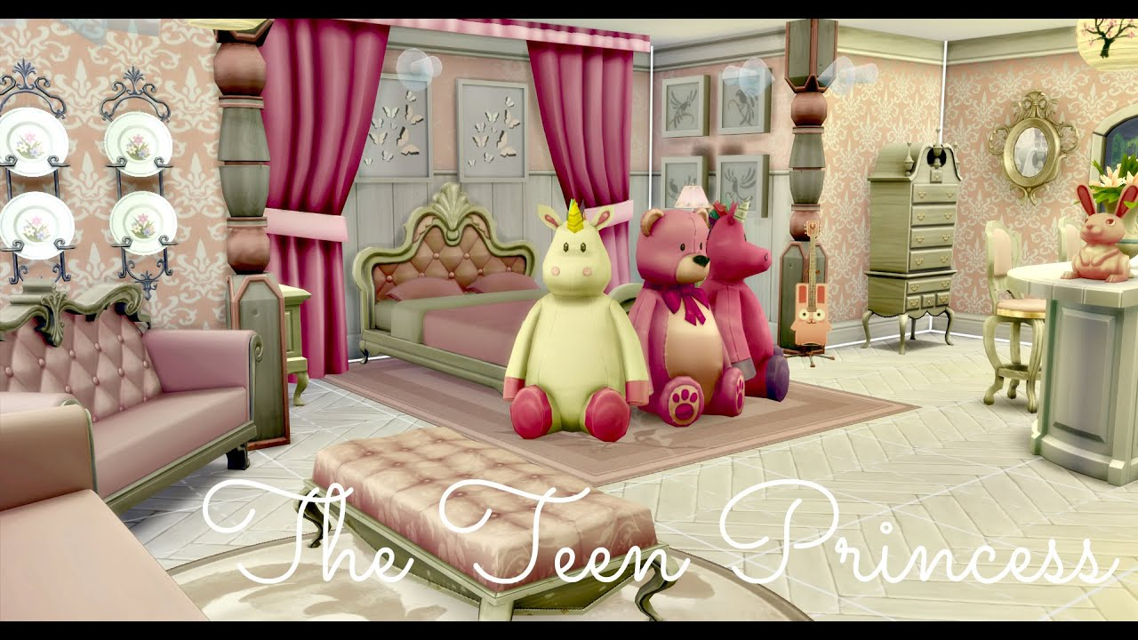 Princess Bedroom Ideas Sims 4 Room Build The Teen Princess Youtube