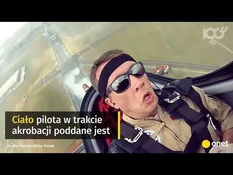 Pilot akrobacyjny podczas