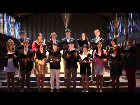 "Portsmouth Abbey School Schola sings ""If Ye Love Me"""