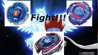 Beyblade 3-way: Storm, Galaxy and Big Bang Pegasis