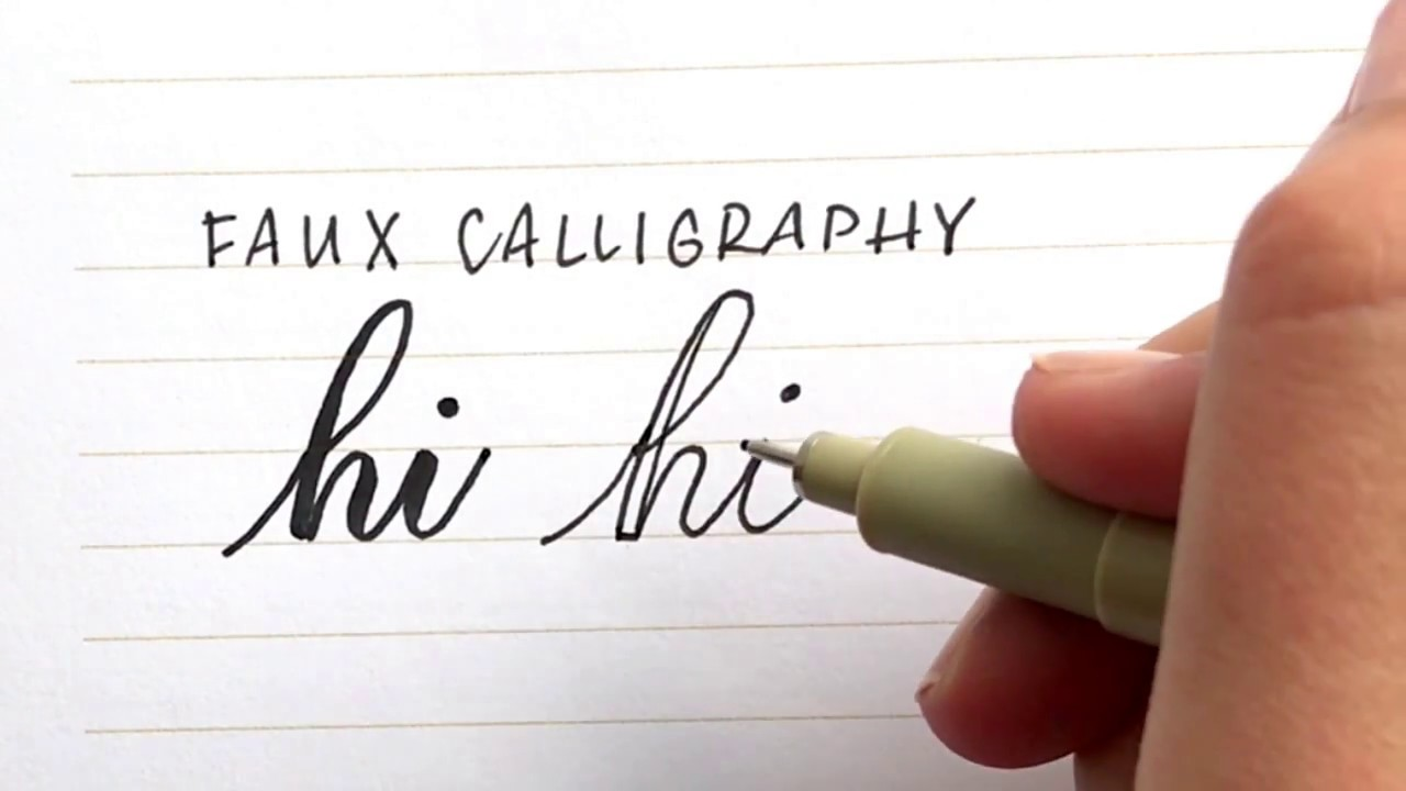 How to do Calligraphy with a Normal Pen — Loveleigh Loops