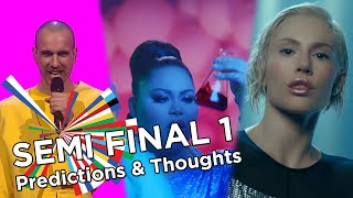 Eurovision 2021 - Semi Final 1 - My Prediction & Thoughts with details (jury, televoting, overall)