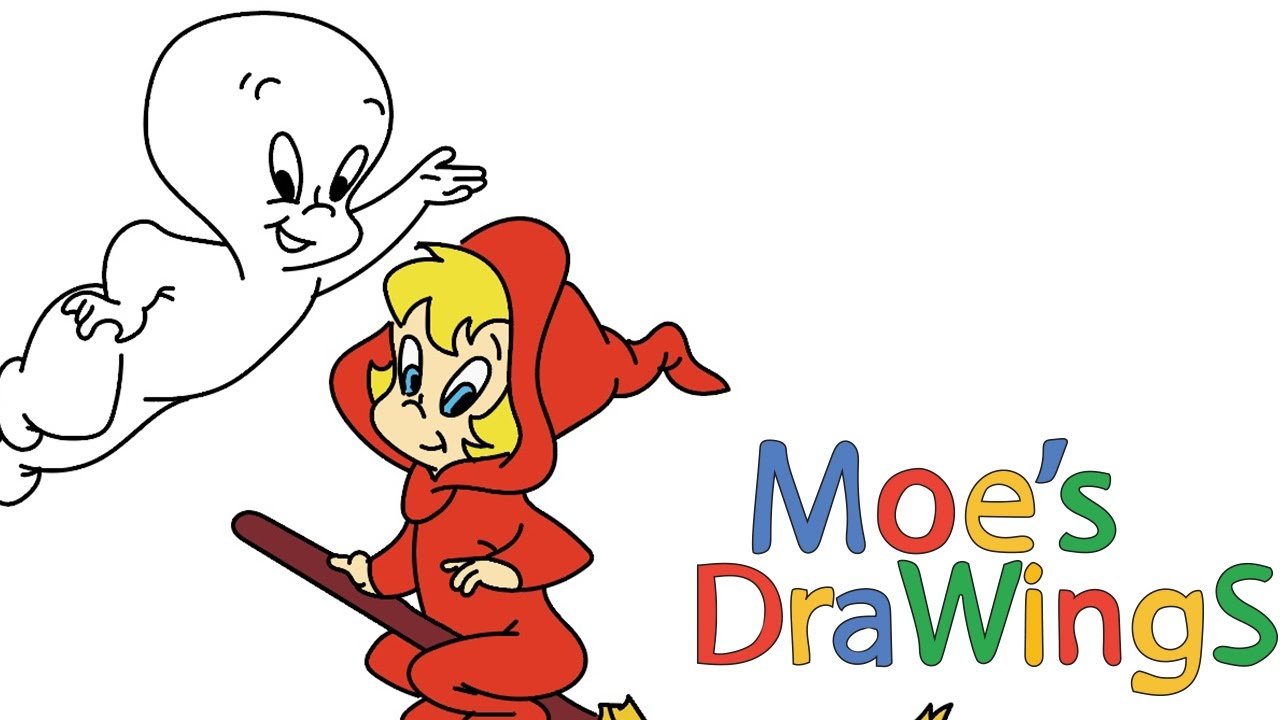 casper how to draw and coloring fun new hd video for kids youtube