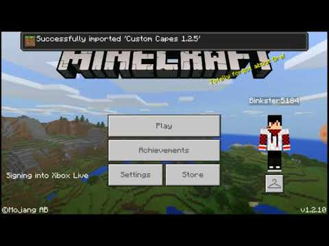HOW TO GET A CAPE IN MINECRAFT POCKET EDITION (NO HACKS OR CLICKBAIT!!)