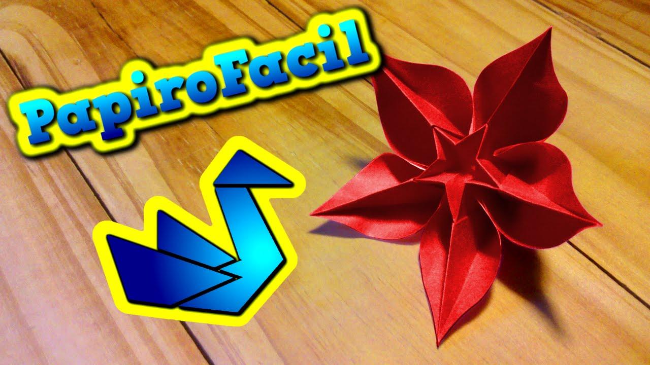 Origami facil como hacer una flor estrella origami - Origami de una estrella ...