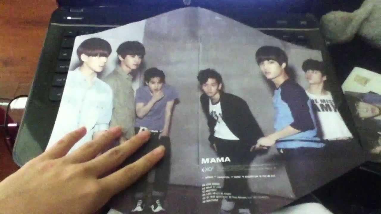 Unboxing Exo K 1st Mini Album Mama T Ara Deco Sticker Pack