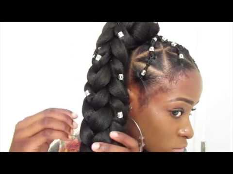 Jumbo 3d Ponytail Braid Goddess Style Youtube