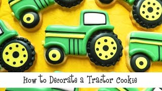 How to Decorate a Tractor Cookie