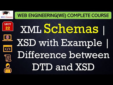 XML Schemas | XSD with Example | Difference between DTD and XSD in Hindi