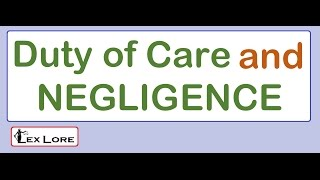 #LA2.2. - Duty of care and Negligence ; CLAT 2018 ; Legal Reasoning ; TORT law