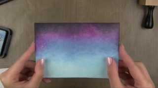 "Фон ""звёздное небо"" - мастер-класс (how to make starry sky background)"