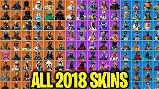 EVERY FORTNITE SKIN IN 2018! ALL FORTNITE SKINS IN 2018! 260+ SKINS SHOWCASE!