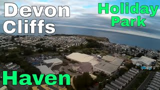 FPV race drone first look around Devon cliffs holiday park - haven - south Devon