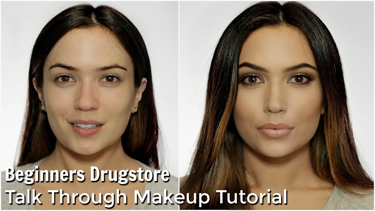 Beginners Talk Through Makeup Tutorial All Drugstore Youtube