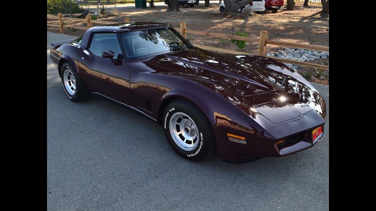 sold 1980 chevrolet corvette coupe dark claret youtube