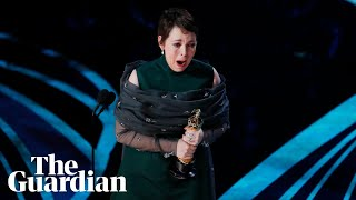 Olivia Colman's Oscars speech: 'this is genuinely quite stressful!'