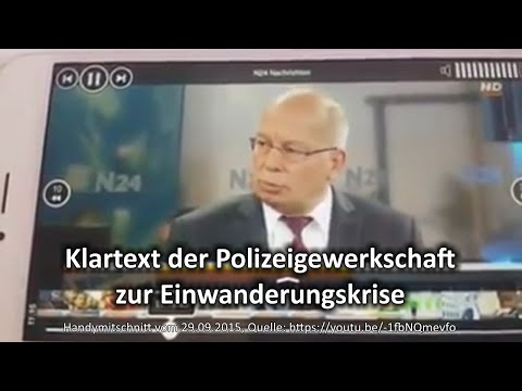 Klartext der Polizeigewerkschaft zur Einwanderungskrise