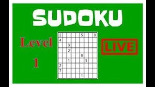 sudoku online Game play ! Level 1 Start