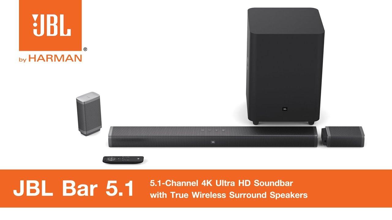 review jbl bar 5 1 channel 4k ultra hd soundbar youtube. Black Bedroom Furniture Sets. Home Design Ideas