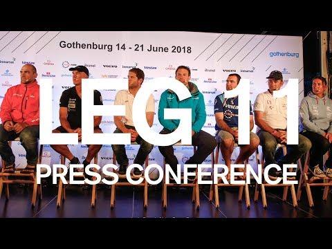 FULL REPLAY: Leg 11 Start Press Conference – Gothenburg | Volvo Ocean Race