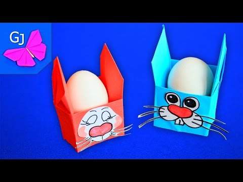 Смотреть Оригами коробочка Пасхальный заяц