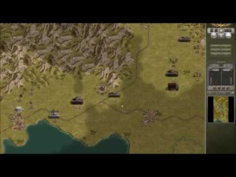 Let's Play Panzercorps Allied Corps- 1940 Desert Campaign Monte Casino