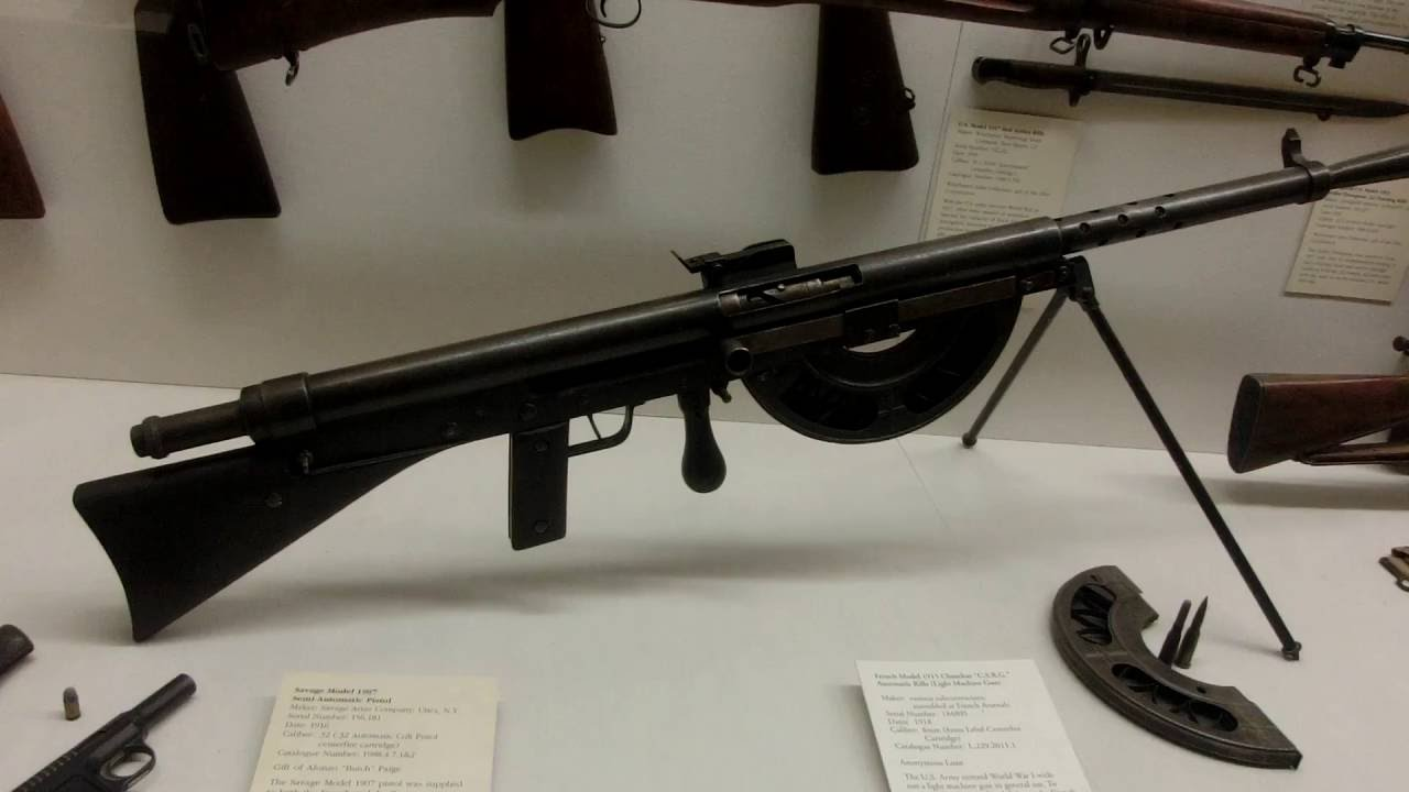 In WWI US Army had to purchase French Machine Gun Chaucher Model 1915