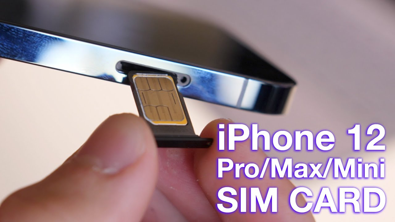 How to Insert/Remove SIM Card to iPhone 12 (Pro) - YouTube