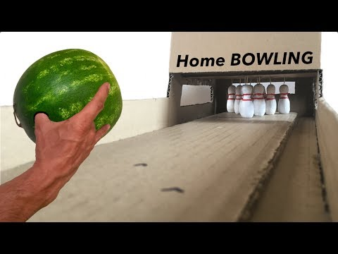 Best Table Game Ever. Homemade BOWLING championship. DIY TUTORIAL
