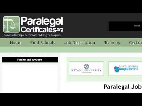 Job Description Of A Paralegal Assistant  Youtube