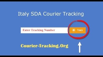 Italy SDA Courier Tracking Guide