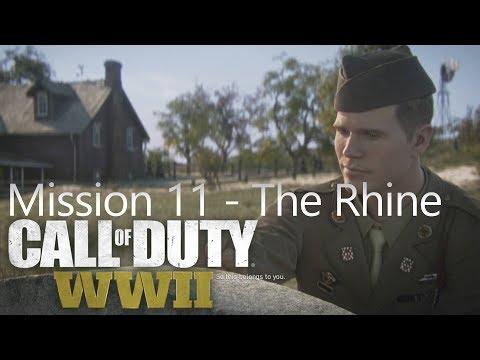 Call of Duty: WW2 - Mission 11 The Rhine - Campaign Playthrough COD WW II [Full HD]