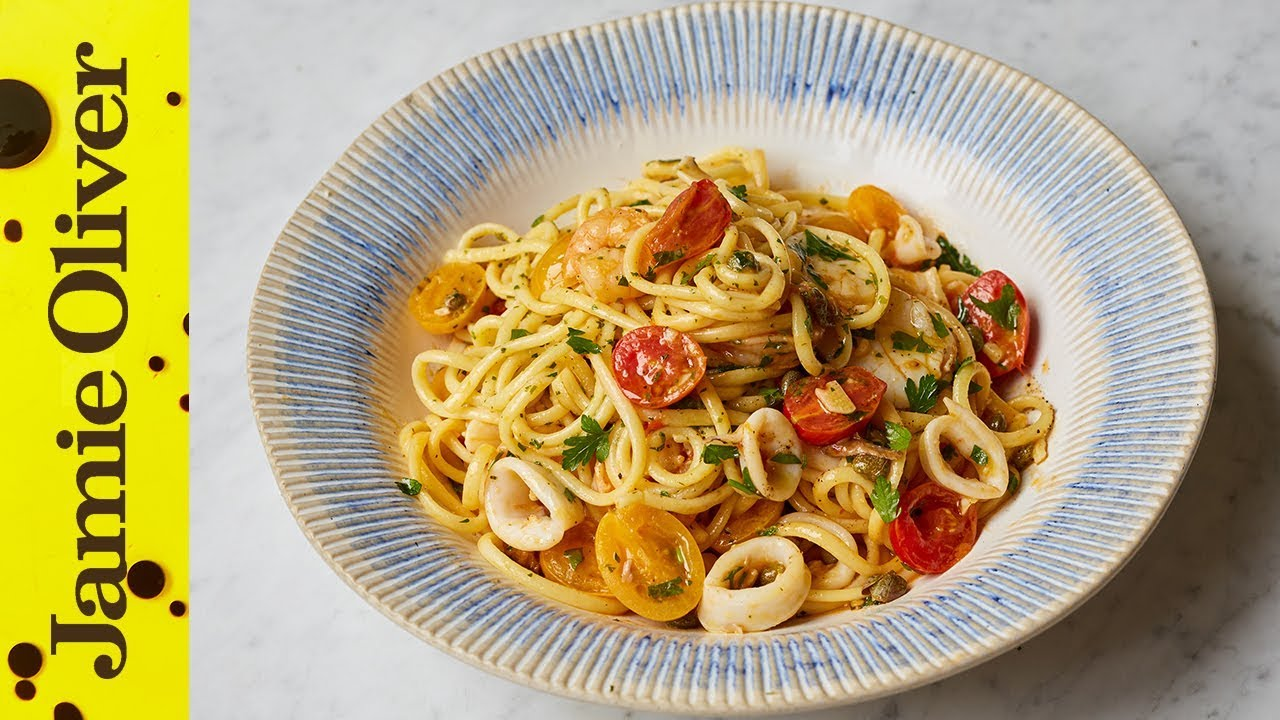 Jamie S Specials Seafood Linguine Jamie S Italian Youtube