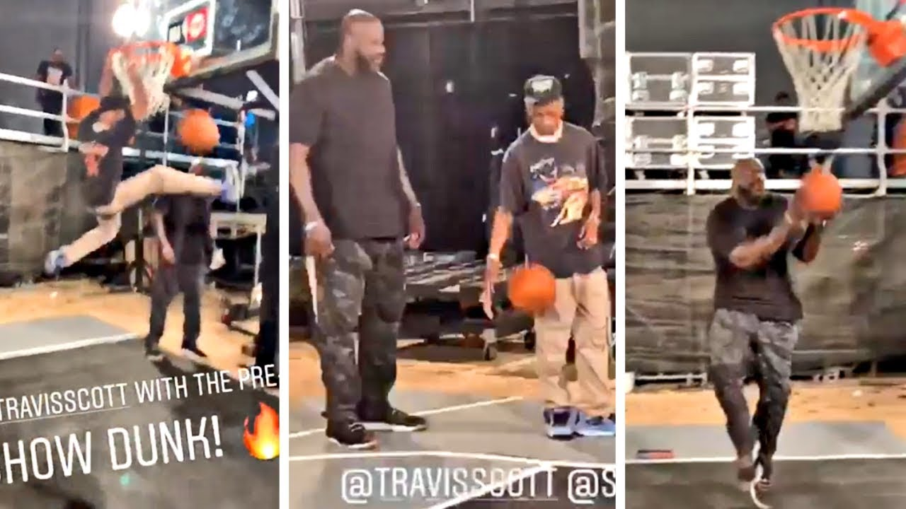 travis-scott-is-balling-with-shaq-throws-down-a-dunk