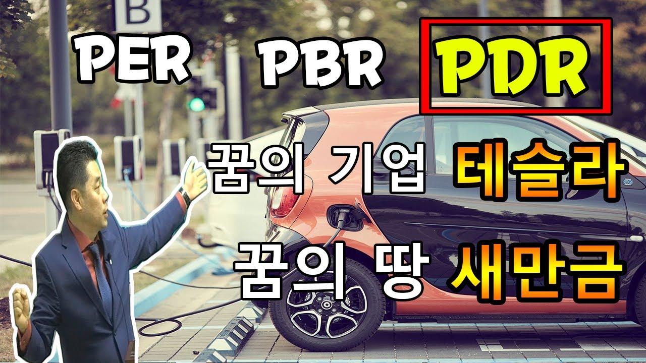 PER, PBR, PDR 꿈의 기업 테슬라.. 꿈의 땅 새만금!! (전기 자동차, 토지, 투자, 부동산)